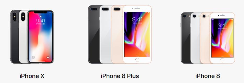 Apple iPhoneサイトより:最新機種のiPhoneX, 8, 8PlusでもLINEモバイルは使えます。