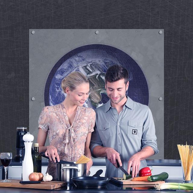 カップルで料理の腕前向上をめざす